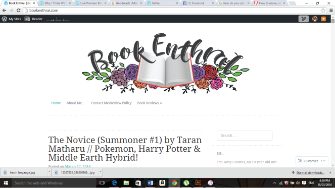 old blog layout